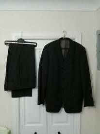 Mens Black Cerruti Suit