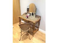 Wicker dressing table originally purchased from John Lewis (chair included free of charge)