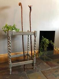 Vintage wooden stick/umbrella stand