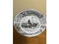 W.M Rowland LTD 1830 Plate