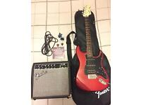Squire Affinity series Strat electric guitar package