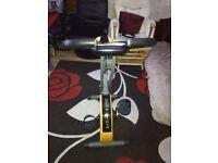 Golds gym folding exercise bike