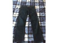 Men's River Island Straight Jeans Navy Blue Denim 30W 32L