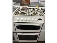 55CM WHITE GAS COOKER TWIN CAVITY