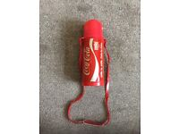 VINTAGE COLLECTIBLE COCA COLA HYDRATION BOTTLE WITH BUILT IN STRAW MECHANISM