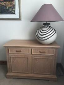 Oak Sideboard & Oak Cabinet - Living Room / Dining Room (sold individually or as a pair)