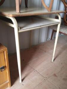 Oakville  HIGH UTILITY TABLE 30Wx24Dx30H Retro Metal Solid Vintage Solid Steel Mid-Century Kitchen Work Shop Garage