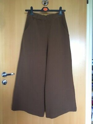 House Of Sunny CLean Line wide crop leg trousers elastic waist uk size 6