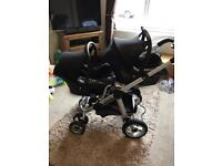 Icandy Pear tandem travel system/double pram