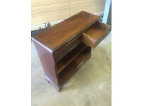 Reproduction Mahogany bookcase with two drawers