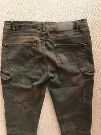 Women's Bershka (Zara) army jeans
