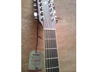 Yamaha 12 string acoustic guitar new