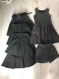 Bundle of girls grey school uniform 5/6/7 M&S