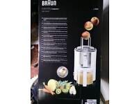 Braun super JUICER , high performance whole fruits,