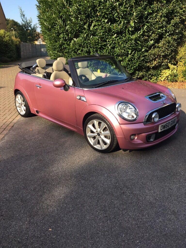 Pink Mini Cooper Convertible