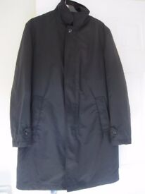 MENS BLACK WARM COAT M&S SIZE SMALL - NOW REDUCED