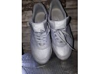 Nike Air Max trainers size 4. Silver grey.