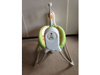 Fisher Price Rainforest Baby Swing Chair with music and rocking motion