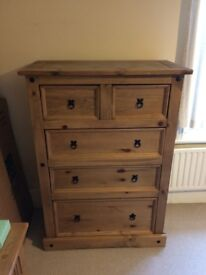 Solid Wood Chest of Drawers - Large