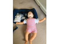 Baby Anne for First Aid Teaching. Used twice in original Laerdal Carry Bag