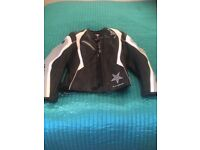 Ladies Ixon leather motorcycle jacket. Size 8 -10.