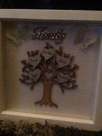 Family tree and scrabble frames