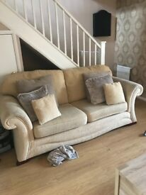 3 seater & 2 seater sofas with pouffe