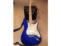 FENDER SQUIER AFFINITY STRAT ELECTRIC GUITAR AND MARSHALL MG10 AMP