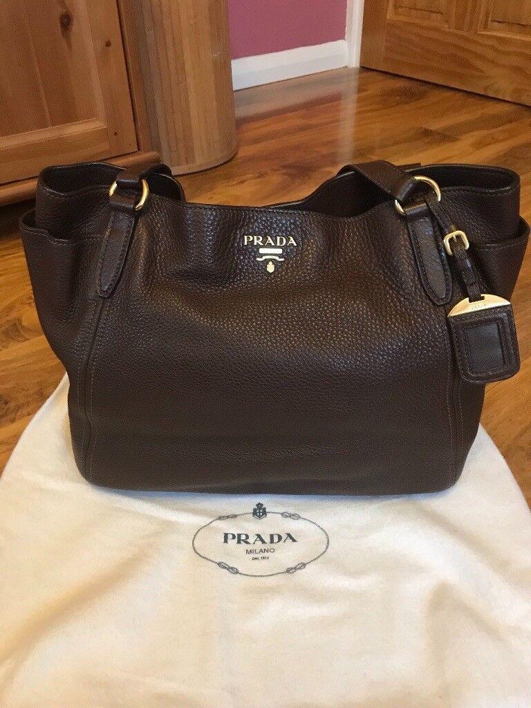6a8eeb550ad Prada leather handbag with dustbag   in Hammersmith, London   Gumtree