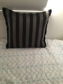 Two Black & Silver Cushions