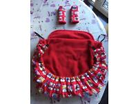 Child car seat cover and strap covers