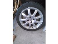 """Alloy wheels """"16"""" for PEUGEOT,CITROEN and FORD with tyres 205/45/16"""