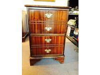 Reproduction Mahogany Filing Cabinet