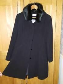 Wallis petite size 12 black coat