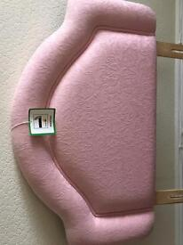 Pink single head board