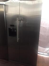 Stainless steel good looking frost free A-class American style fridge freezer cheap