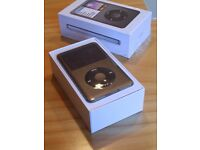 APPLE iPOD CLASSIC 160GB, GREY/BLACK 7TH GEN –Mint Condition, BOX, Barely Used, Cellophane on!