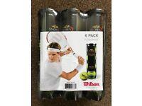 NEW Wilson US Open Tennis Balls - Six Tubes x 4 Balls (24)