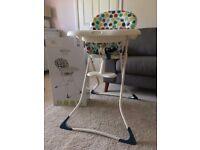 Graco Tea Time Spots High Chair - Like New