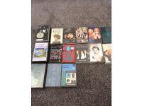 15 music cassettes