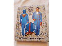 DC COMICS SUPERMAN JUMPSUIT ONESIE LARGE BNIB