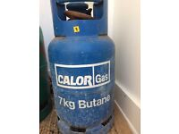 Calor Gas 7kg Butane cylinder + regulator, nearly empty