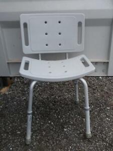AA Oakville Shower Seat Aluminum Rubber feet  Elderly Chair Bath Tub Adjustable Disabled Geriatric Aid