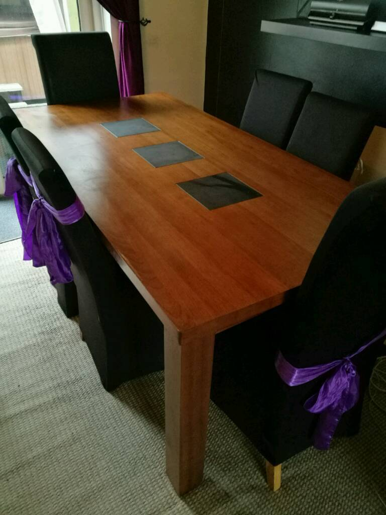 Leekes Bedroom Furniture Leekes Solid Oak Dining Table And 6chairs In Nuneaton