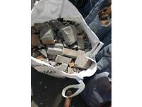 Free rubble bricks hard core