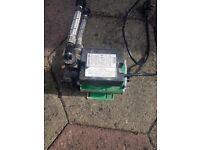 Plug in Water pump to increase water pressure.