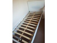 Single bed frame, white