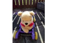 Winnie the Pooh 2 in 1 ride on and rocker. Good used working condition.