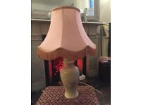 Pretty floral china lamp with shade