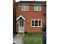 Semi detached 2 bed to let unfurnished , available from the 17th September ,